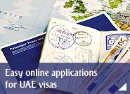 Easy online applications for UAE visas
