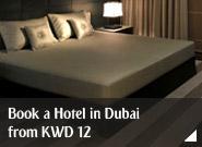 Book a hotel in Dubai from KWD 12