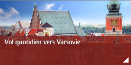 Vol quotidien vers Varsovie
