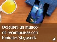 Únase a Emirates Skywards y descubra un mundo de recompensas