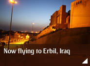 Now flying to Erbil, Iraq