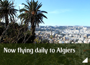 Now flying daily to Algiers