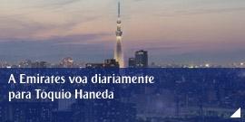 A Emirates voa diariamente para Tóquio Haneda