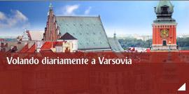 Volando diariamente a Varsovia