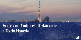 Vuele con Emirates diariamente a Tokio Haneda
