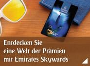 Werden Sie Mitglied bei Emirates Skywards und entdecken Sie Prämien