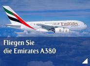 Fliegen Sie die Emirates A380