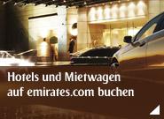 Hotels und Mietwagen auf emirates.com buchen