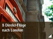 8 Direkt-Flüge nach London