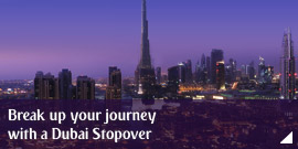 Break up your journey with a Dubai Stopover