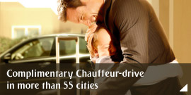 Complimentary Chauffeur-drive in more than 55 cities