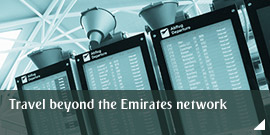 Travel beyond the Emirates network