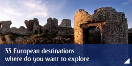 33 European destinations – where do you want to explore