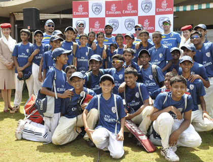 Mumbai cricket clinic with Sangakarra, Steyn and White