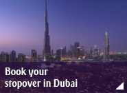 Book your stopover in Dubai