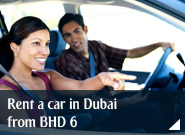Rent a car in Dubai from BHD 6