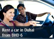 Rent a car in Dubai from BHD 6