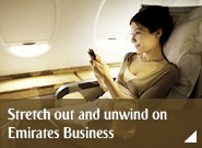 Stretch out and unwind on Emirates Business