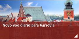 Voe agora diariamente para Warsaw