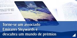 Torne-se um associado Emirates Skywards e descubra um mundo de prêmios