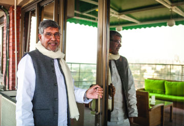 Lunch with Kailash Satyarthi at Delhi 'O' Delhi