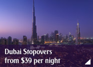 Dubai Stopovers from $39 per night