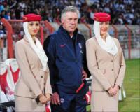 PSS coach Carlo Ancelotti at the Dubai Football Challenge