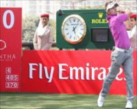 Jbe Kruger teeing off at the Avantha Masters 2012