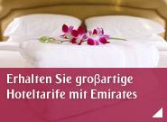 Erhalten Sie groβartige Hoteltarife mit Emirates