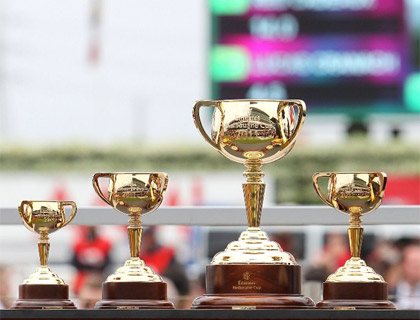 The Emirates Melbourne Cup Trophies.