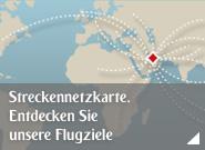 Streckennetzkarte. Entdecken Sie unsere Flugziele