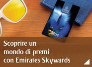 Iscrivetevi a Emirates Skywards e scoprite un mondo di premi