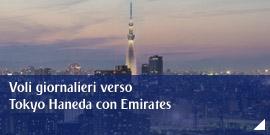 Voli giornalieri verso Tokyo Haneda con Emirates