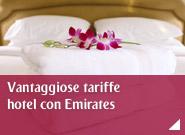 Vantaggiose tariffe hotel con Emirates