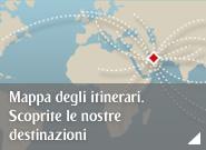 Mappa degli itinerari. Scoprite le nostre destinazioni