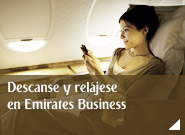 Descanse y relájese en Emirates Business