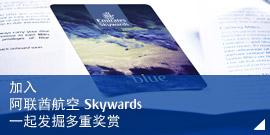 加入 阿联酋航空 Skywards 一起发掘多重奖赏