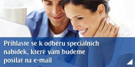 Přihlaste se k odběru speciálních nabídek, které vám budeme posílat na e-mail.