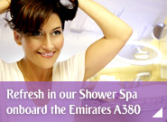 Refresh in our Shower Spa onboard the Emirates A380