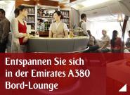 Entspannen Sie sich in der Emirates A380 Bord-Lounge