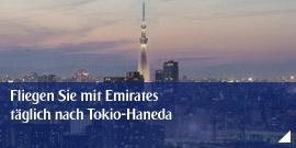Fliegen Sie mit Emirates täglich nach Tokio-Haneda