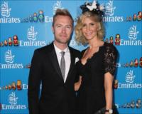 Ronan and Yvonne Keating in the Emirate marquee on the opening day of the Melbourne Cup Carnival.