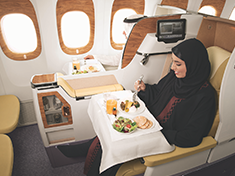 Business Class dining | Dining | The Emirates Experience | Emirates