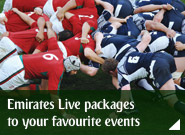 Emirates Live packages to your favourite events