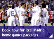 Book now for Real Madrid home games packages
