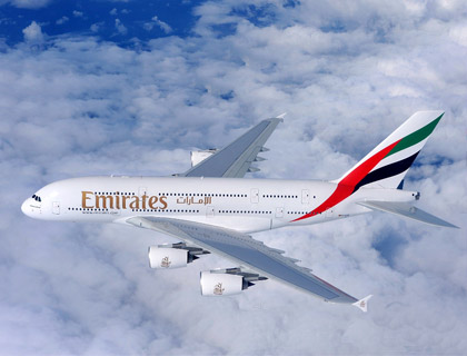Emirates' double-decker flagship aircraft, the A380, will be serving Rome each day, as of 1st December 2011