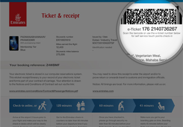 Where can I find my ticket number?   Managing your trip