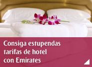 Consiga estupendas tarifas de hotel con Emirates