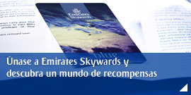 Únase a Emirates Skywards y descubra un mundo de recompensas