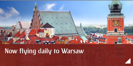 Now flying daily to Warsaw
